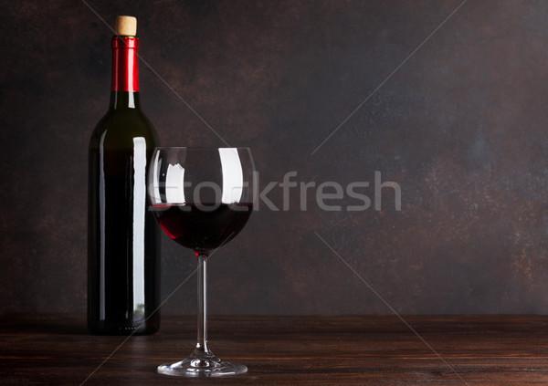 бутылку стекла доске стены копия пространства Сток-фото © karandaev