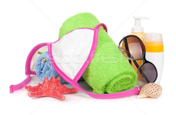 Swimming suit and beach items Stock photo © karandaev