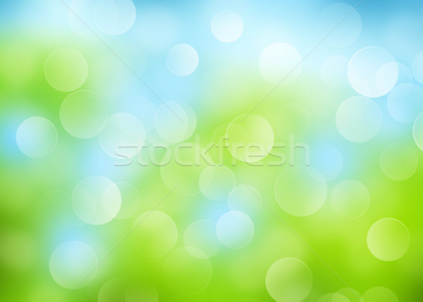 秋 ぼけ味 抽象的な カラフル 夏 草 ストックフォト © karandaev