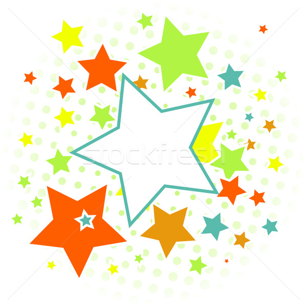 Soyut Yıldız renkli ışık arka plan star Stok fotoğraf © karandaev