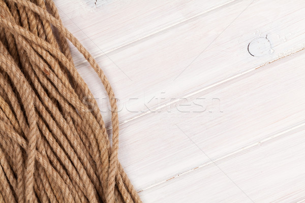 Foto stock: Marinos · cuerda · espacio · de · la · copia · textura · mar