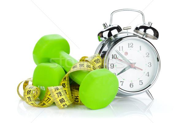 два зеленый рулетка будильник фитнес здоровья Сток-фото © karandaev