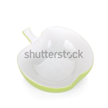 Manzana tazón aislado blanco Foto stock © karandaev