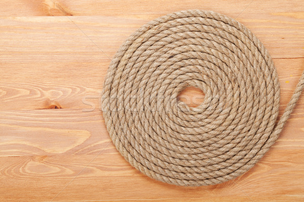 Stock photo: Roll of ship rope