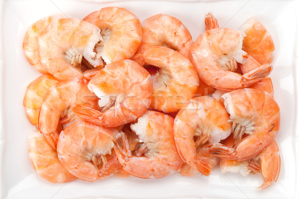 Cooked shrimps Stock photo © karandaev