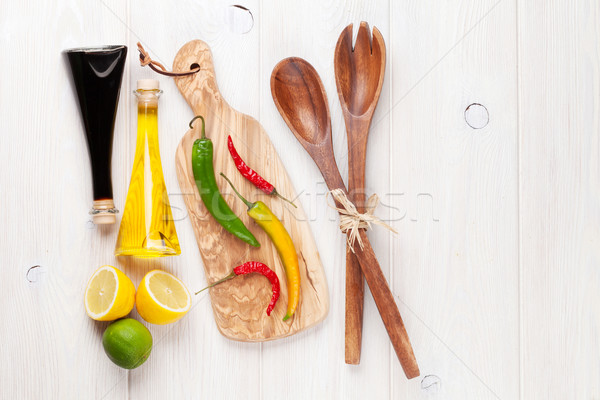 Spices and condiments Stock photo © karandaev