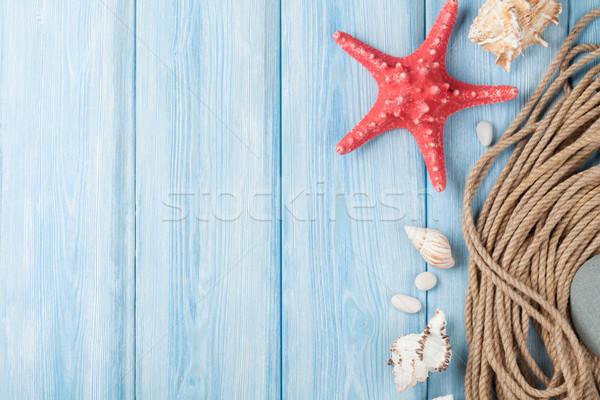 Mar vacaciones estrellas peces marinos cuerda Foto stock © karandaev