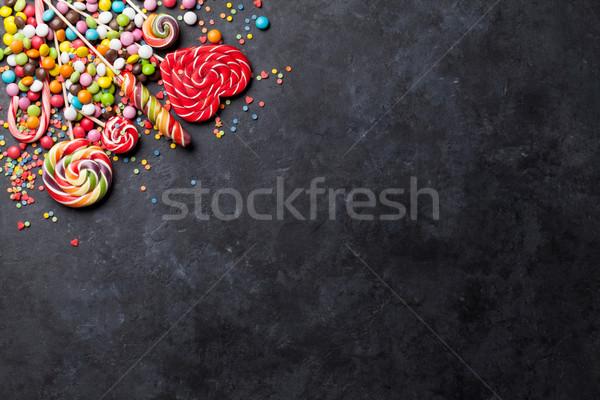 красочный конфеты каменные Top мнение копия пространства Сток-фото © karandaev