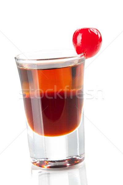 Cocktail collection: Two layered shot with maraschino Stock photo © karandaev