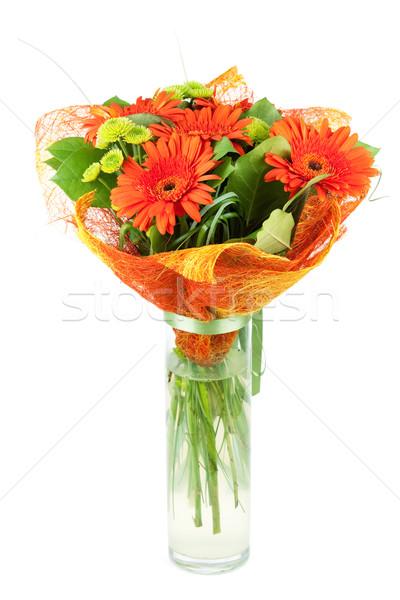 Orange gerbera bouquiet Stock photo © karandaev