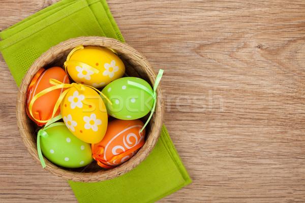 Huevos de Pascua espacio de la copia alimentos feliz naturaleza Foto stock © karandaev