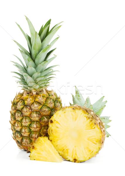 Fraîches juteuse ananas isolé blanche alimentaire Photo stock © karandaev