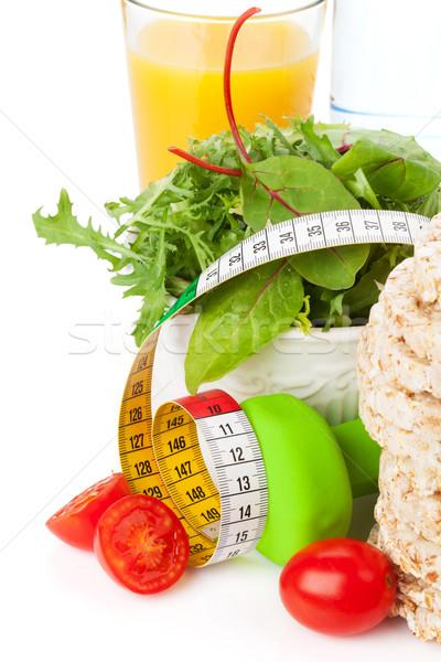 Nastro di misura cibo sano fitness salute isolato bianco Foto d'archivio © karandaev