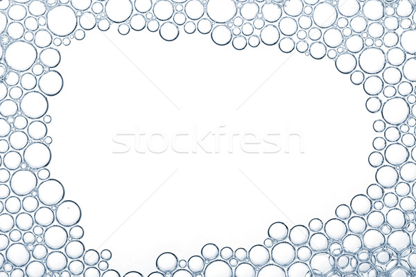 Foam bubbles macro texture Stock photo © karandaev