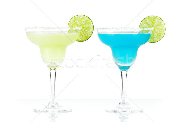 Two margarita alcohol cocktails Stock photo © karandaev