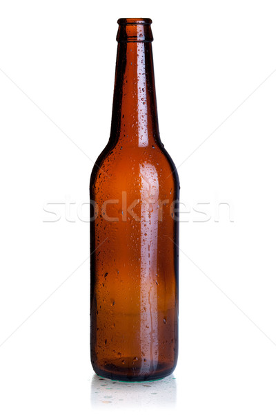 Stock photo: Empty beer bottle