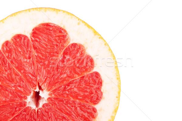 макроса продовольствие коллекция грейпфрут ломтик изолированный Сток-фото © karandaev