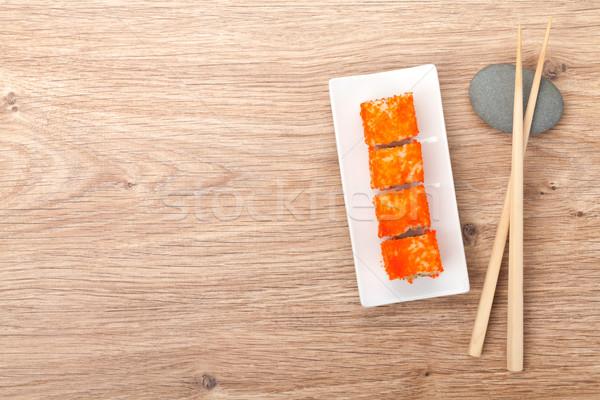 суши маки бамбук таблице копия пространства пространстве Сток-фото © karandaev