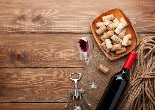 бутылку рюмку чаши штопор Сток-фото © karandaev