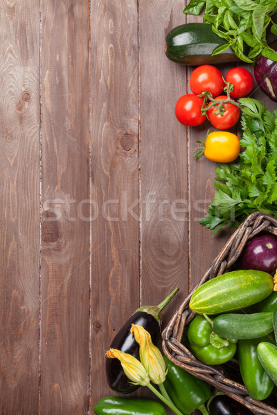 Fresh farmers garden vegetables Stock photo © karandaev