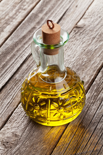 Stock photo: Olive oil bottle