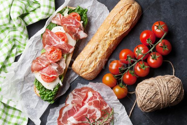 Ciabatta sandwich Stock photo © karandaev