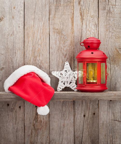 Noel mum fener şapka Stok fotoğraf © karandaev