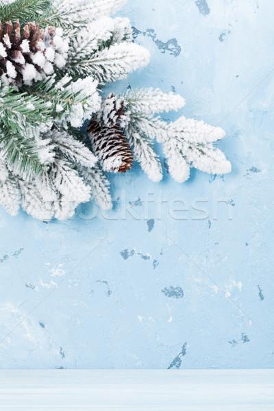 Navidad nieve vista espacio de la copia textura Foto stock © karandaev