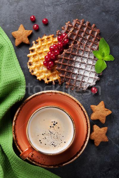 コーヒー お菓子 先頭 表示 食品 チョコレート ストックフォト © karandaev
