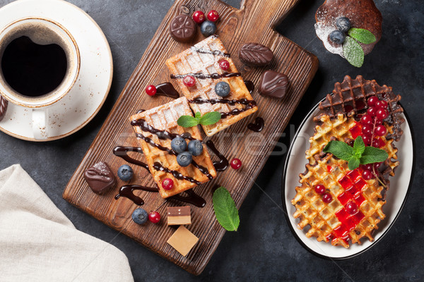 Foto stock: Café · topo · ver · comida · chocolate