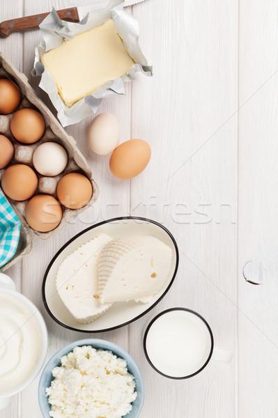 Tejföl tej sajt tojások joghurt vaj Stock fotó © karandaev