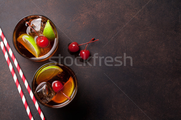 Stockfoto: Cocktail · bril · top · exemplaar · ruimte · ruimte