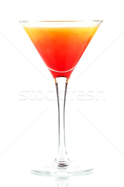 Tequila amanecer alcohol cóctel aislado blanco Foto stock © karandaev