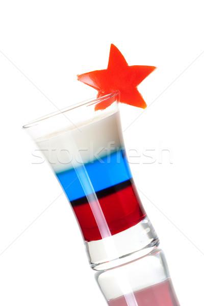 Shot cocktail collection: Russian Flag Stock photo © karandaev