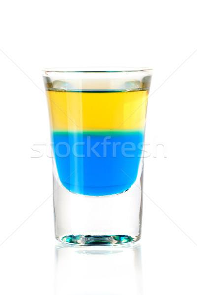 Tiro coquetel coleção azul tequila álcool Foto stock © karandaev