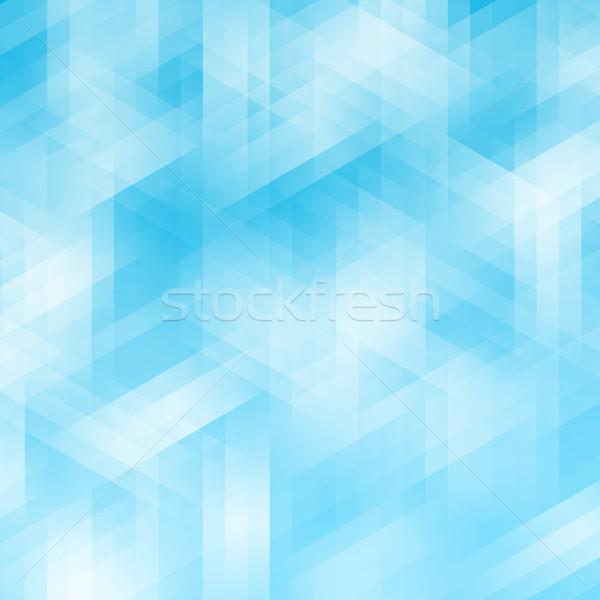 Résumé bleu géométrique pixel modèle affaires Photo stock © karandaev