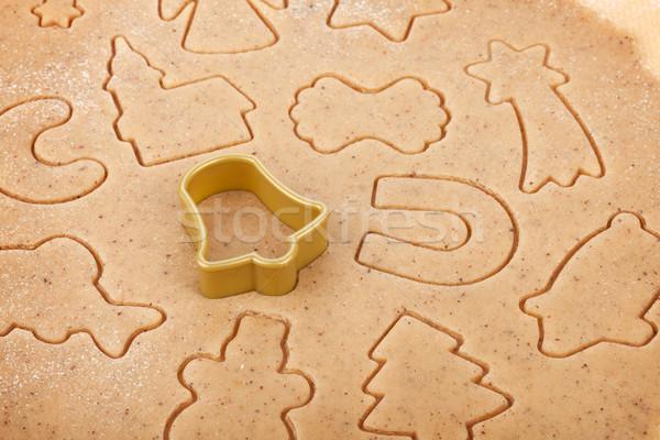 Gingerbread dough for christmas cookies Stock photo © karandaev