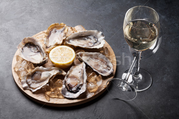 лимона белое вино льда совета Сток-фото © karandaev