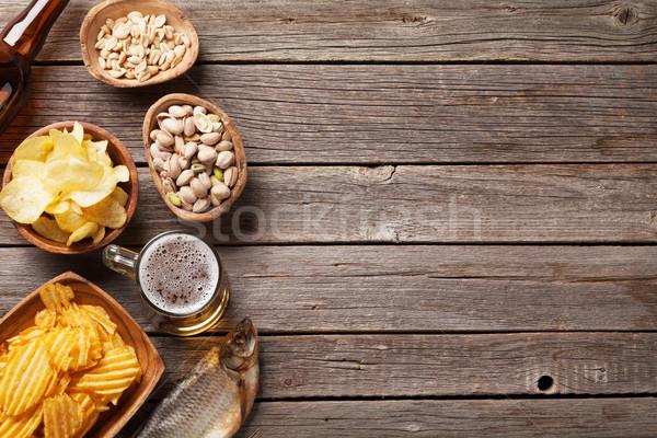 Beer and snacks Stock photo © karandaev