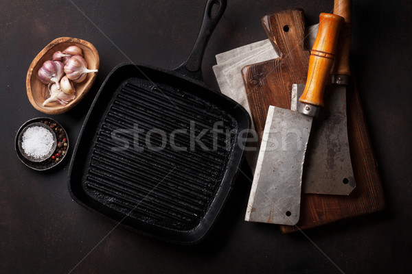 Stock photo: Vintage kitchen utensils and spices