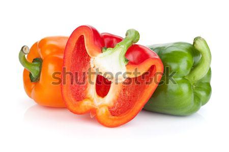 Farbenreich Glocke Paprika isoliert weiß Essen Stock foto © karandaev