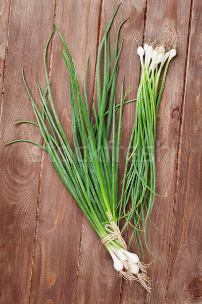 Fresh garden spring onion Stock photo © karandaev