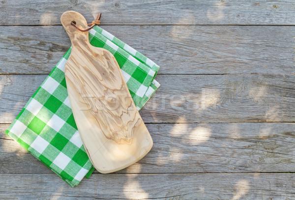 пусто саду таблице разделочная доска скатерть Сток-фото © karandaev