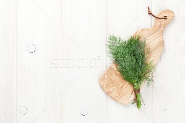 Fresh garden dill Stock photo © karandaev