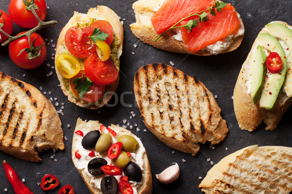 Toast sandwiches Stock photo © karandaev