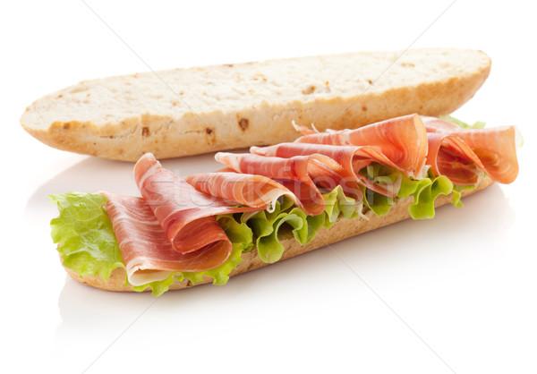 Sandwich voorbereiding lang geïsoleerd witte ander Stockfoto © karandaev