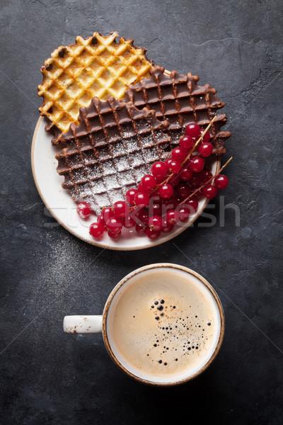 Café topo ver comida chocolate Foto stock © karandaev