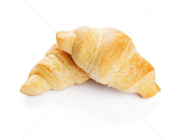 Vers croissants eigengemaakt geïsoleerd witte voedsel Stockfoto © karandaev