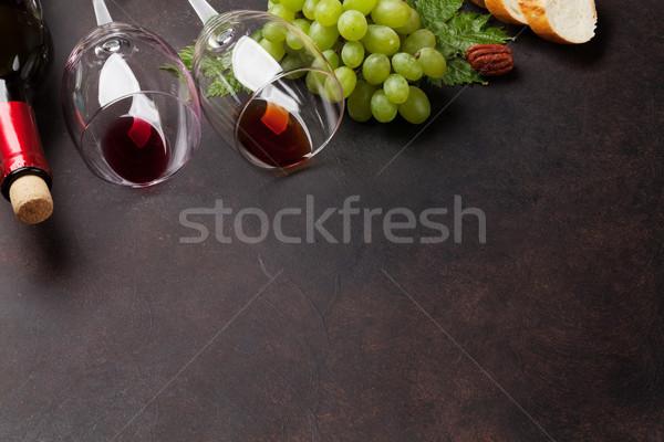 Bor szőlő diók kenyér űr fa Stock fotó © karandaev
