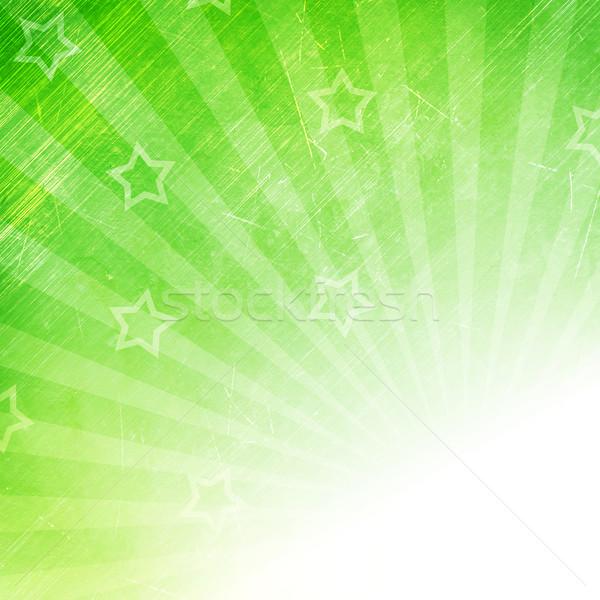 Retro zöld csík minta csillagok nap Stock fotó © karandaev